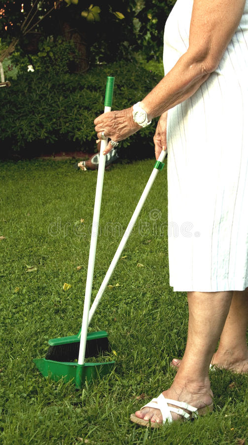 Download Cleaning The Garden Royalty Free Stock Photo - Image: 14978775