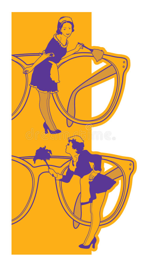 Download Cleaning glasses stock vector. Image of pattern, vertical - 19881938