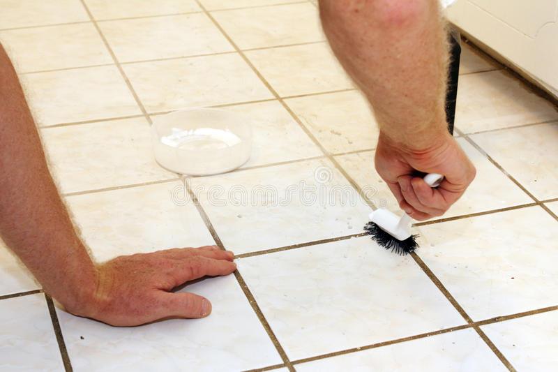 Cleaning Grout royalty free stock photos