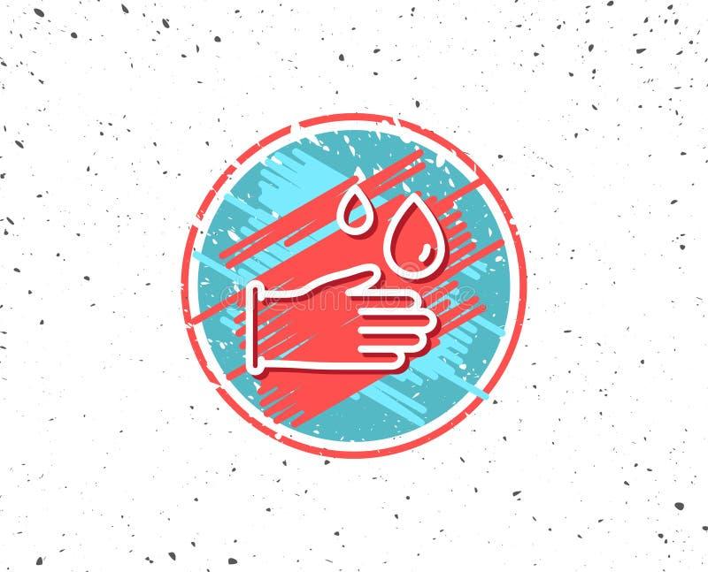 Cleaning gumowych rękawiczek kreskowa ikona Higiena znak royalty ilustracja