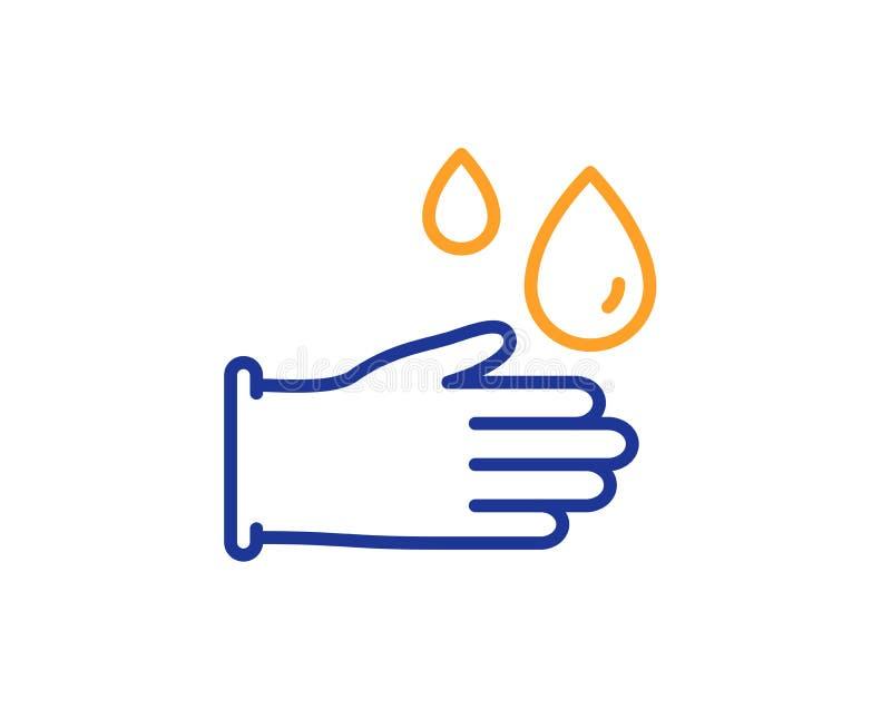 Cleaning gumowych rękawiczek kreskowa ikona Higiena znak wektor ilustracja wektor