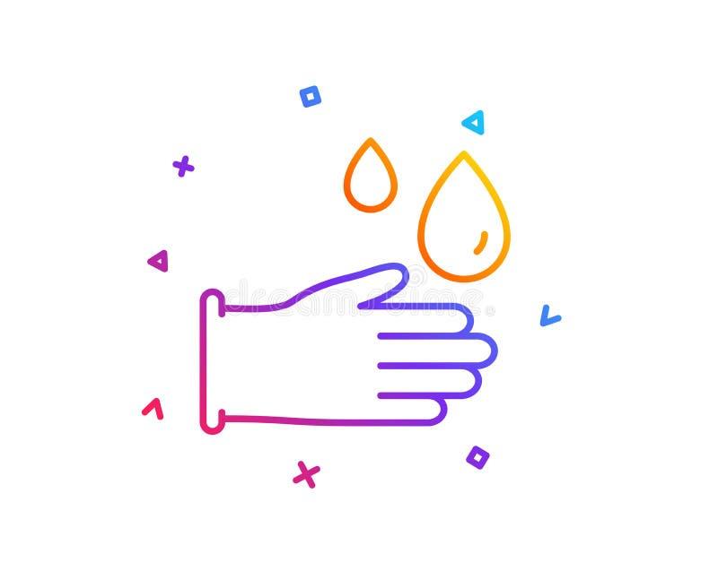 Cleaning gumowych rękawiczek kreskowa ikona Higiena znak wektor ilustracji