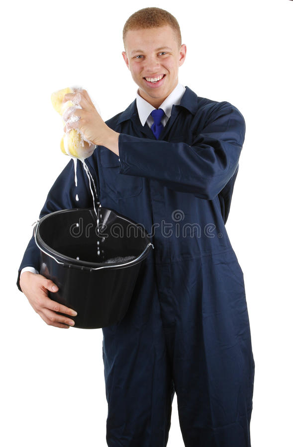 Cleaning guy stock photography