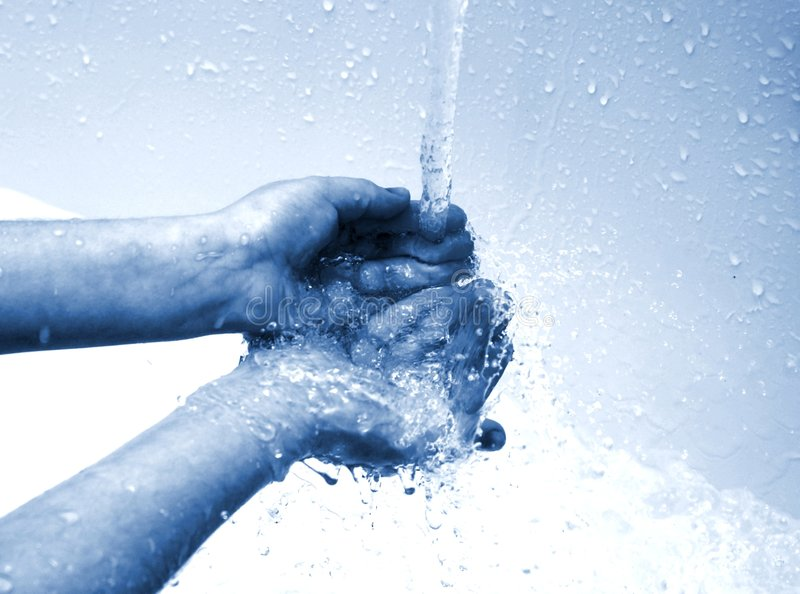 Cleaning hands royalty free stock image