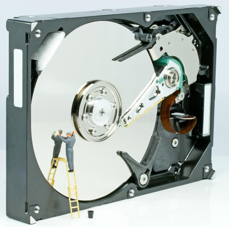 Cleaning A Hard Drive Royalty Free Stock Photos
