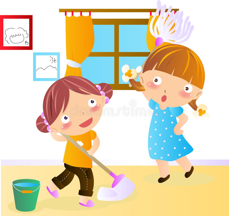 Kids cleaning room clipart - photo#47
