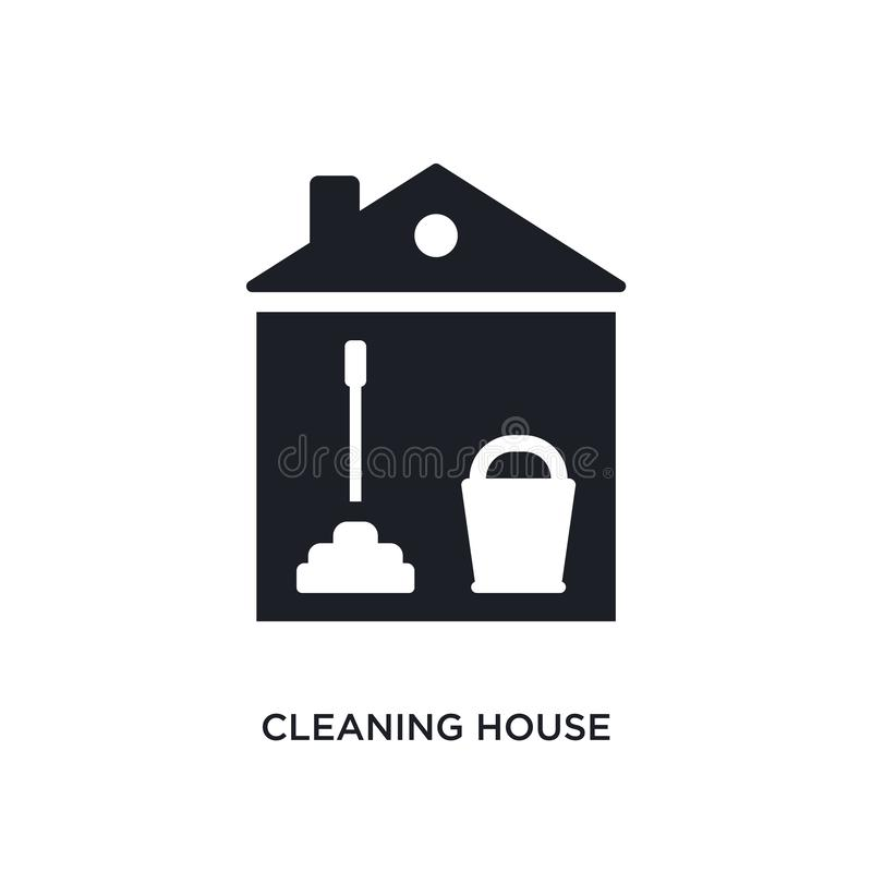 cleaning house isolated icon. simple element illustration from cleaning concept icons. cleaning house editable logo sign symbol royalty free illustration