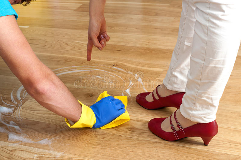 Cleaning in house stock photography