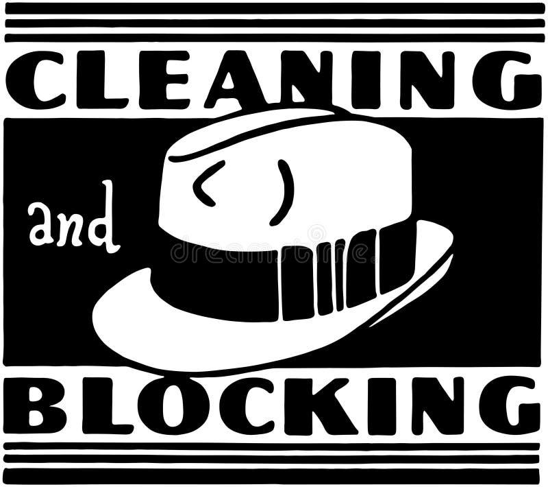 Cleaning I bloking ilustracja wektor