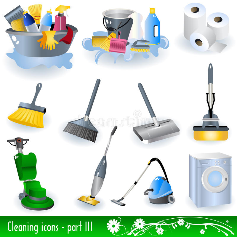 Free Cleaning Icons Stock Photography - 12271062