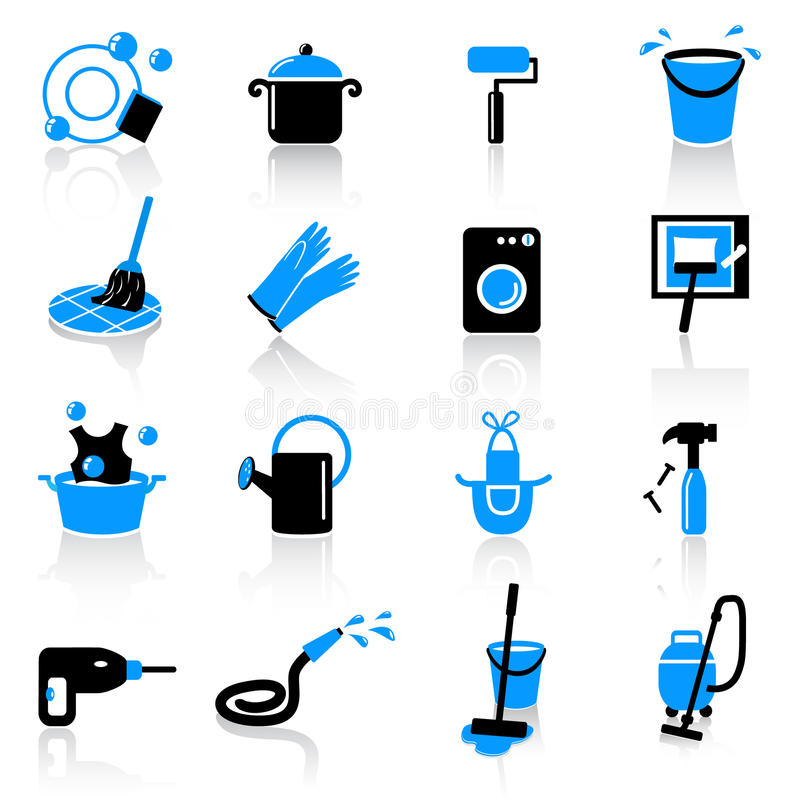 Download Cleaning Icons Royalty Free Stock Photo - Image: 21966145