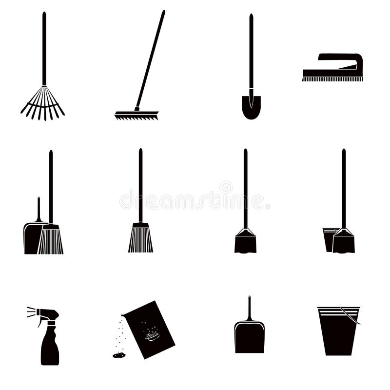 Download Cleaning Icons Royalty Free Stock Image - Image: 25638156