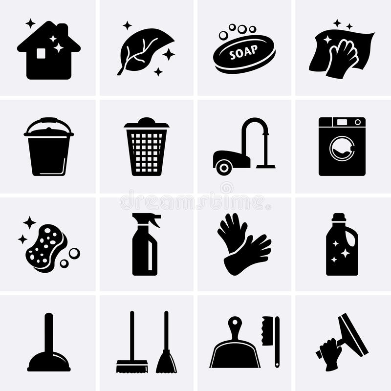 Free Cleaning Icons Stock Photos - 41205023