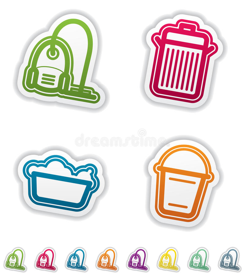Download Cleaning Items stock vector. Image of clean, cleaner - 24801519