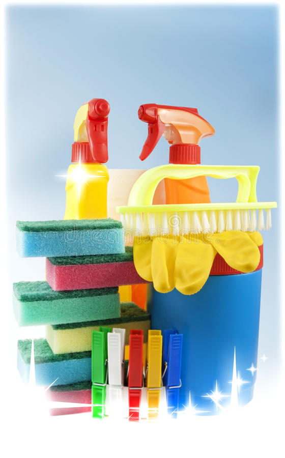 Cleaning kit for cleaner stock images