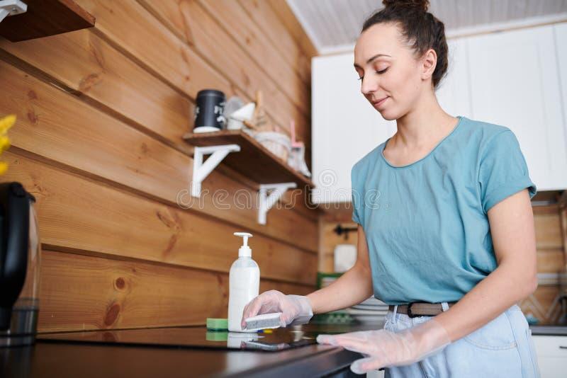Cleaning kuchenka zdjęcie royalty free