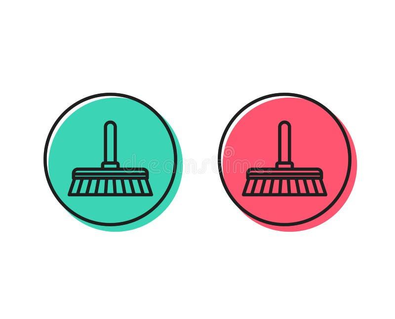 Cleaning kwacza linii ikona Zamiata podłoga wektor royalty ilustracja