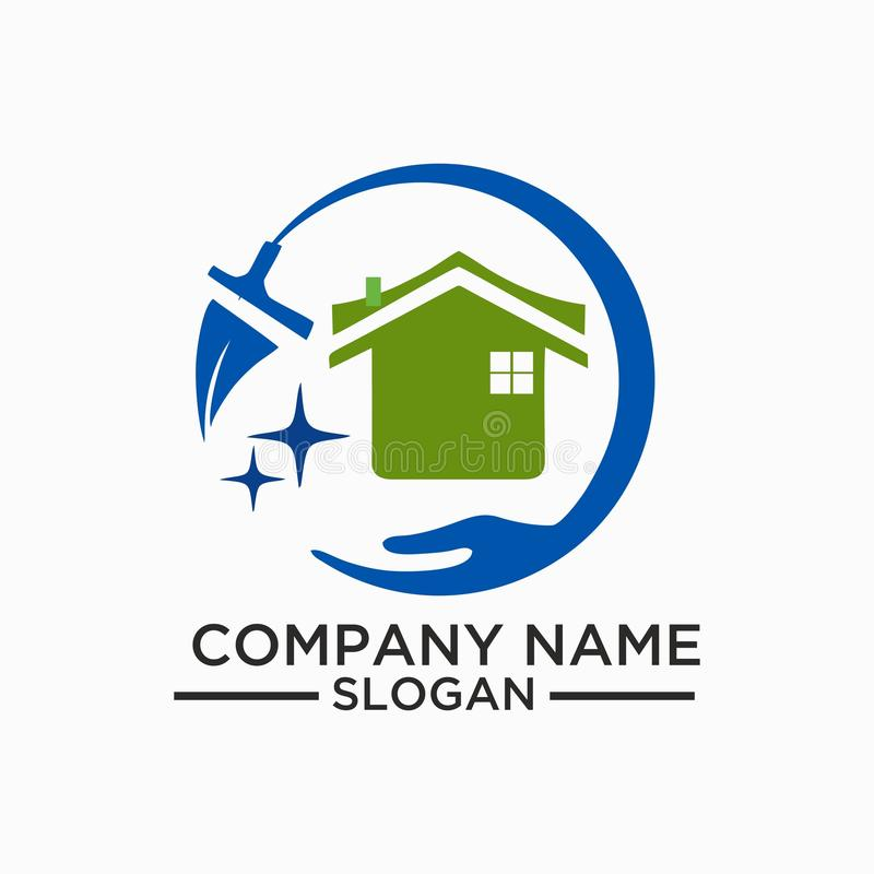 Cleaning And Maintenance Logo And Vector Template , Stock