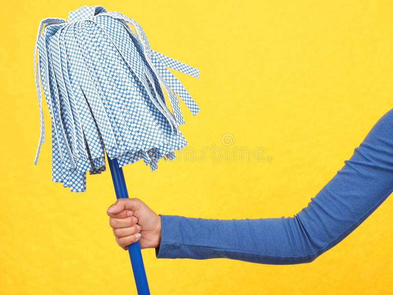 Cleaning mop royalty free stock photos