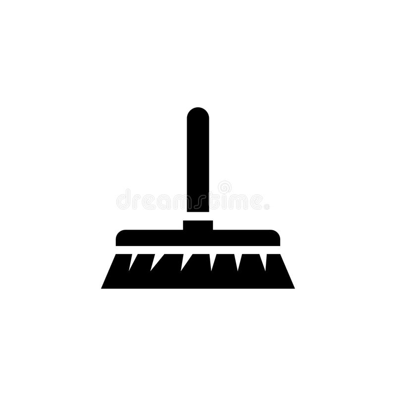 Cleaning muśnięcie Miotły Płaska Wektorowa ikona ilustracja wektor