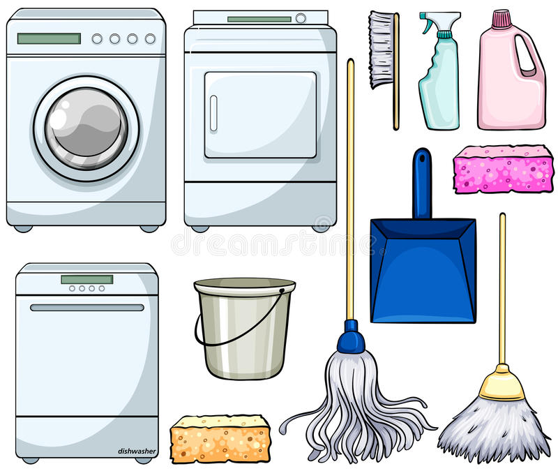Cleaning objects vector illustration