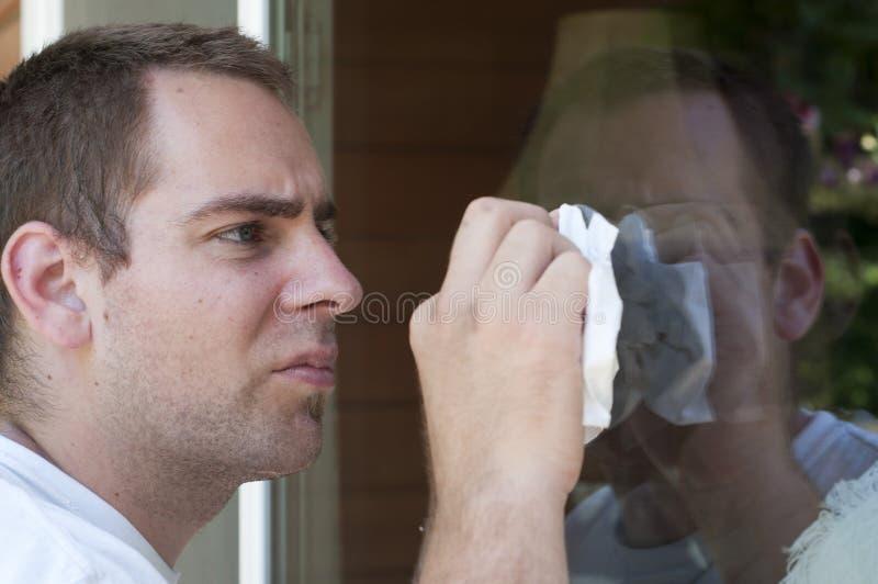 cleaning okno zdjęcie royalty free
