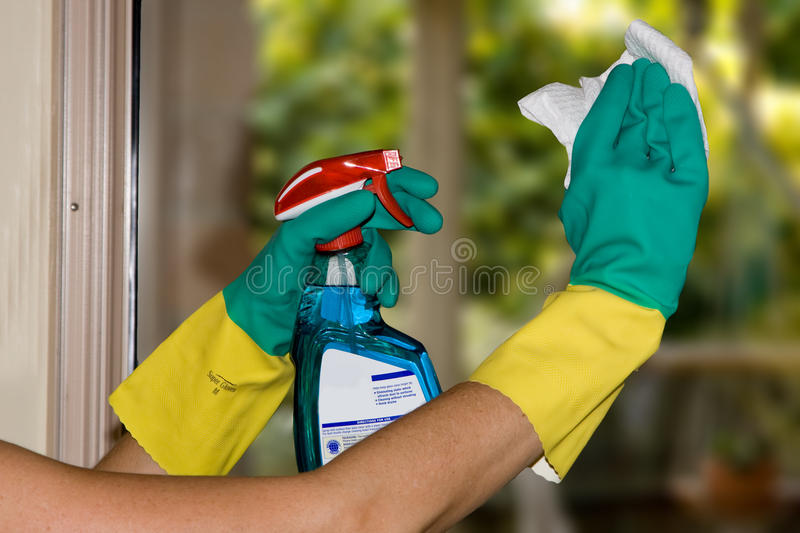 cleaning okno obrazy royalty free