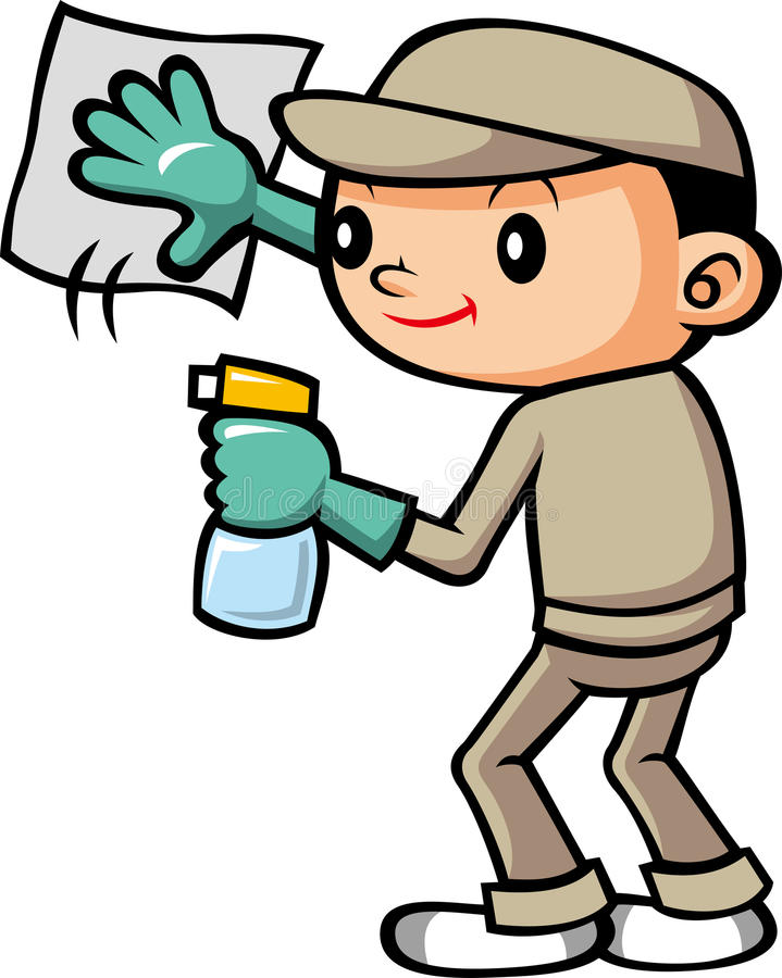 Cleaning personel ilustracji