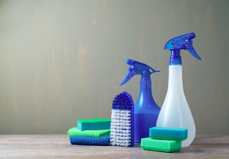 Cleaning pojęcie z dostawami zdjęcie royalty free