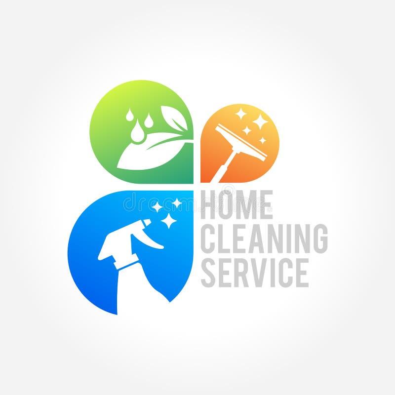 Cleaning poważnego interesu loga projekt, Eco Życzliwy pojęcie dla wnętrza, dom i budynek, ilustracja wektor