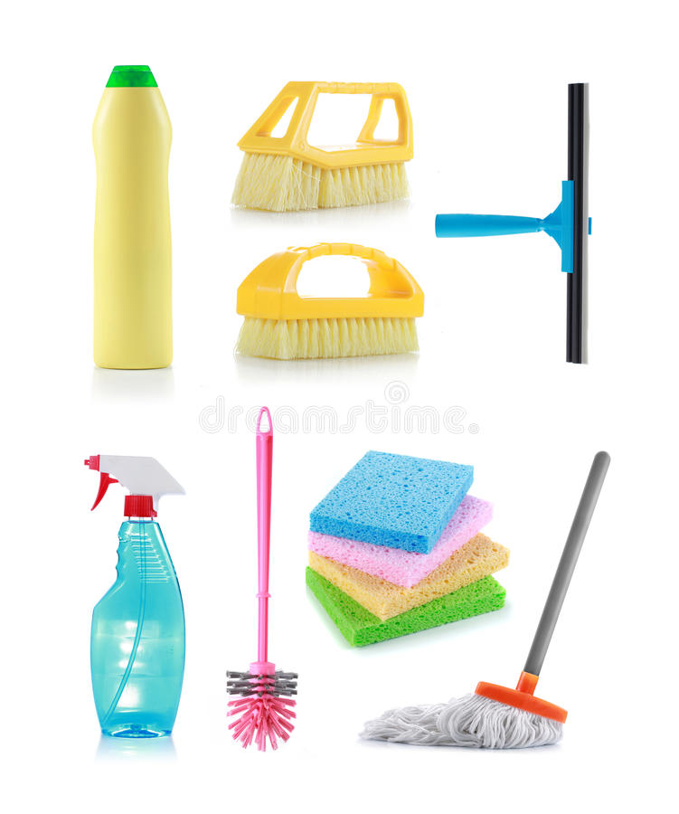 Cleaning products royalty free stock images