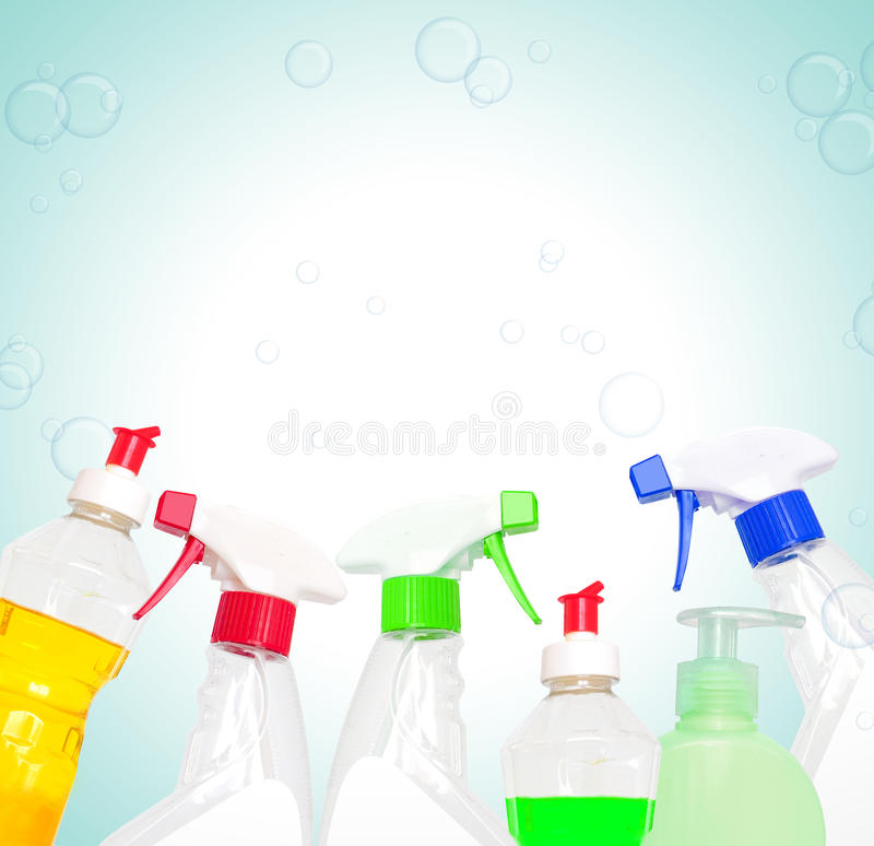 Download Cleaning products stock photo. Image of blue, cutout - 20396686