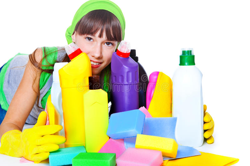 Download Cleaning products stock image. Image of housekeeping - 24338495
