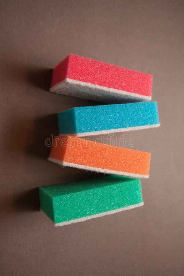 Cleaning products for home stock photo