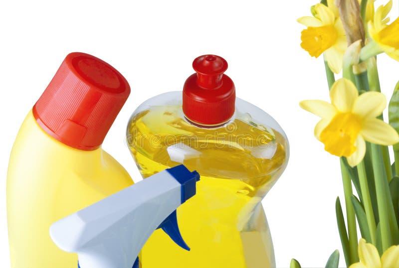 cleaning produktów wiosna zdjęcia royalty free