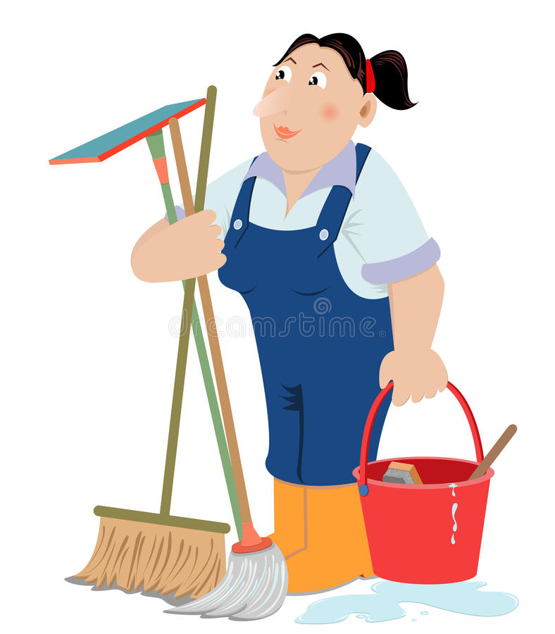 Cleaning Service royalty free illustration