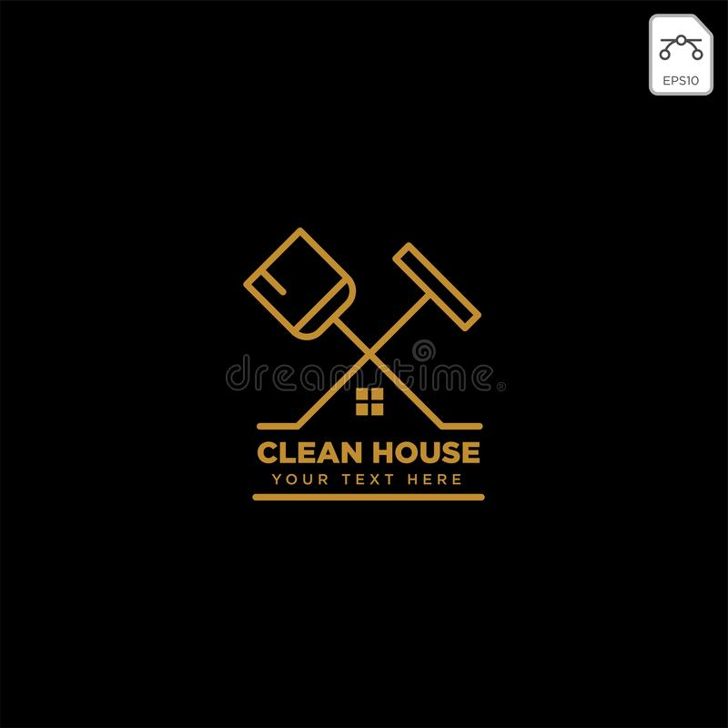 Cleaning service house eco logo template vector illustration icon element. Isolated - vector stock photo