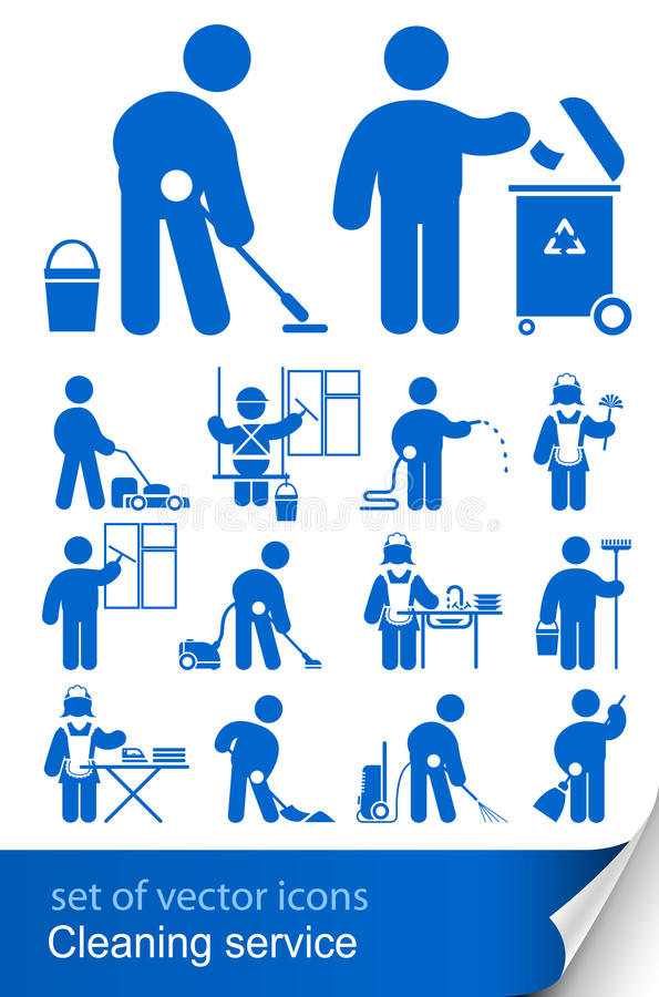 Cleaning service icon royalty free illustration