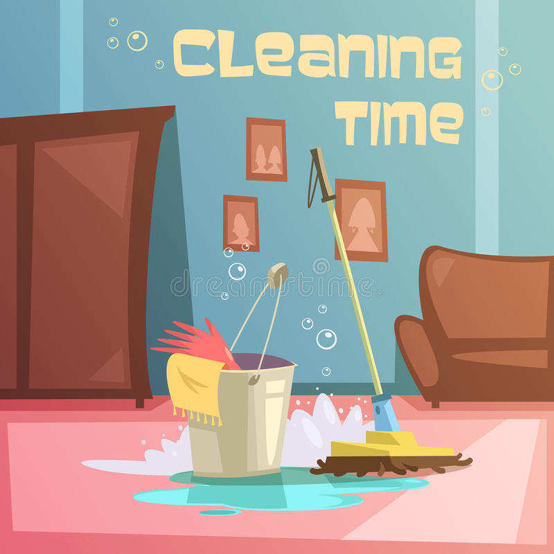 Cleaning Service Illustration royalty free illustration
