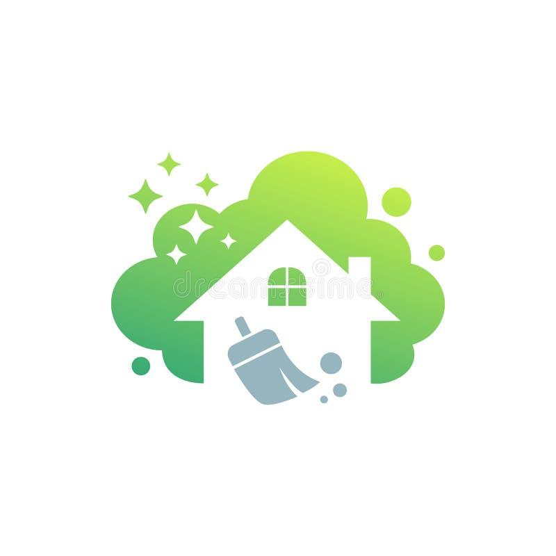 cleaning service logo design idea creative eco symbol template rh dreamstime com house cleaning logos free house cleaning logo maker