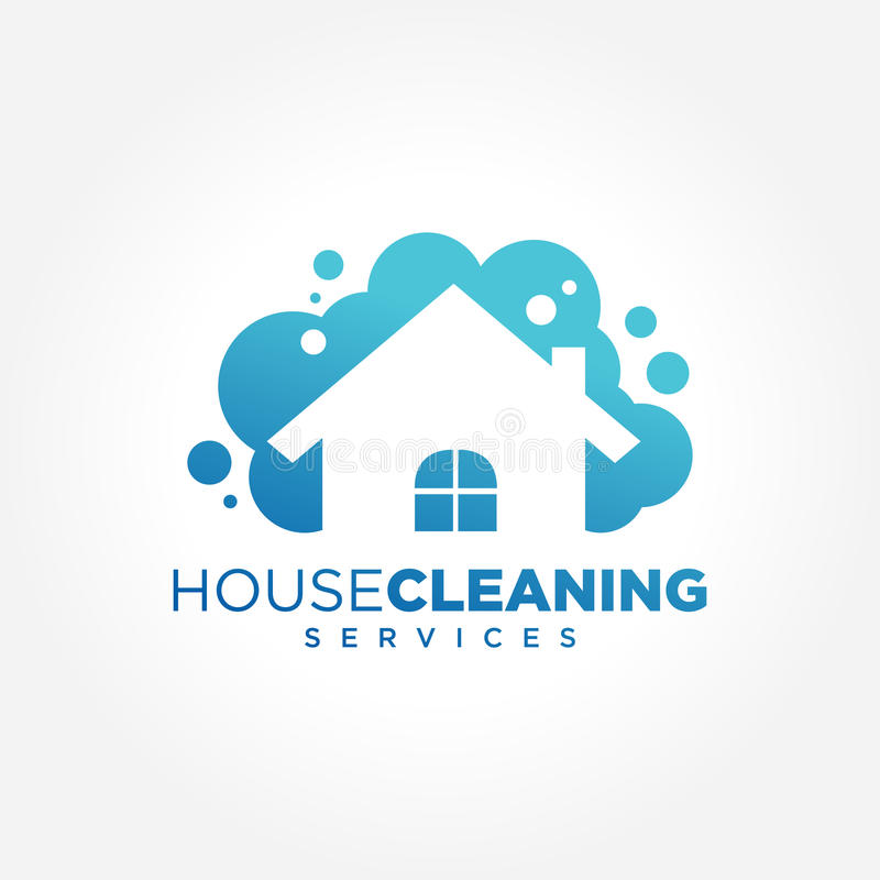 download cleaning service logo design idea creative eco symbol template building and house stock - Logo Design Idea