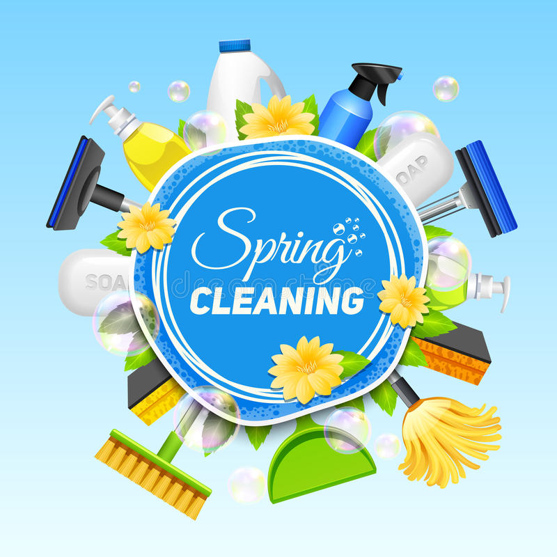 Cleaning Service Poster stock illustration