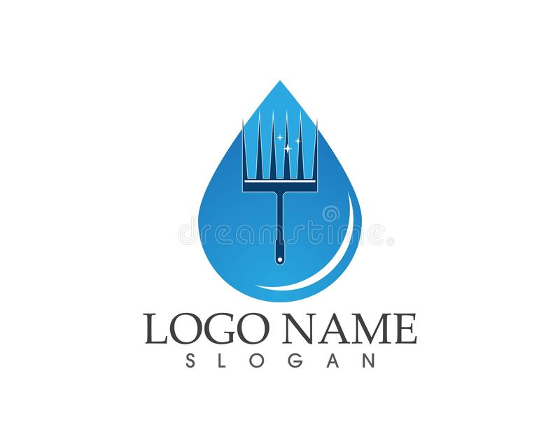Cleaning service water logo design concept.  royalty free illustration