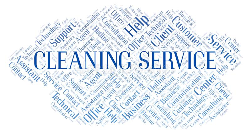 Dry Cleaning Service Word Cloud Stock Illustration