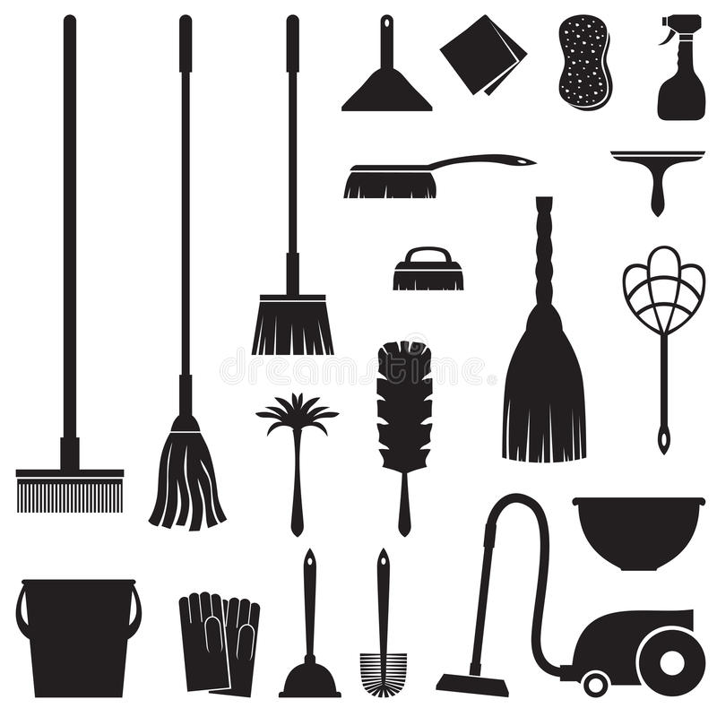 Free Cleaning Set Royalty Free Stock Photos - 34687968