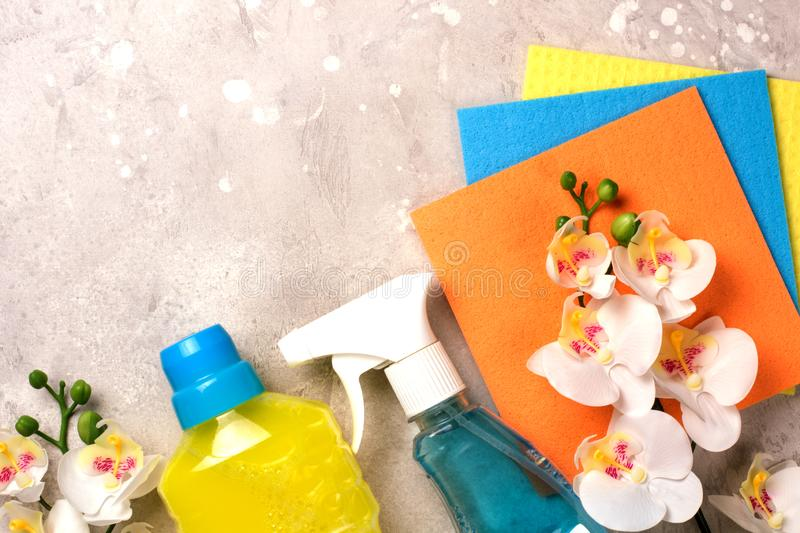 Cleaning set. Spring clean up royalty free stock photos