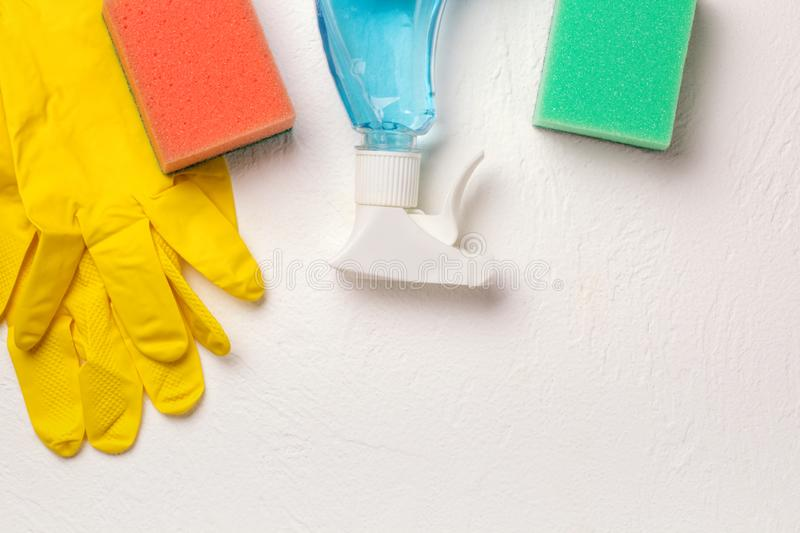 Cleaning set. Spring clean up royalty free stock photography