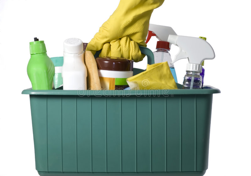 Cleaning Supplies 3 royalty free stock photography