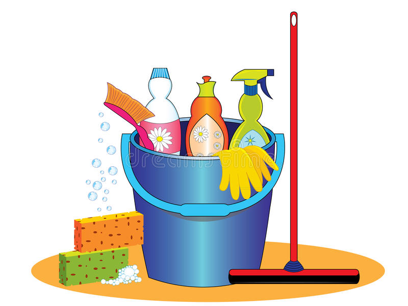 Stock Photos Cleaning Supplies Illustration Tools Pail Image30690783 on Dusting Cleaning Clip Art Free