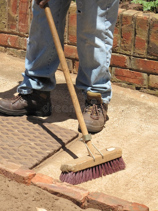 Cleaning/sweeping royalty free stock photos